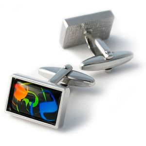 Promotional Rectangle Cufflinks for Corporate Gifts