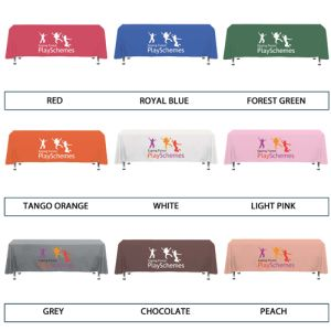 Custom Polyester tablecloths with company design