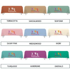 Printed exhibition tablecloths exhibition ideas