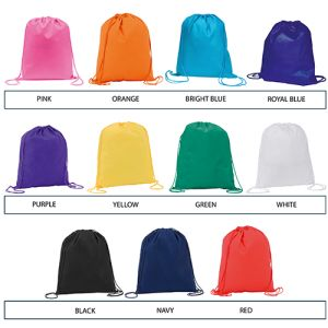 Promotional bags for festival merchandise colours