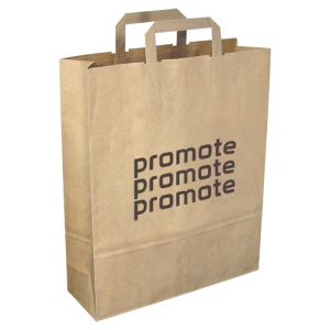 These sturdy large printed paper bags make great items for restaurants & shops
