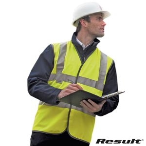 Result Safeguard Hi Vis Safety Vests in Yellow