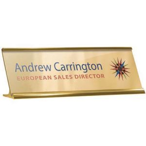 Branded Metal Name Plate for Office Merchandise