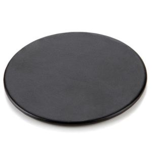 Round Belluno PU Coasters in Black
