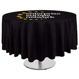Personalised Round Tablecloth for Company Marketing