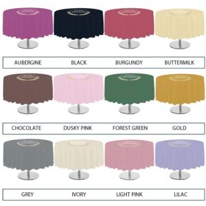 Round Polyester Tablecloths