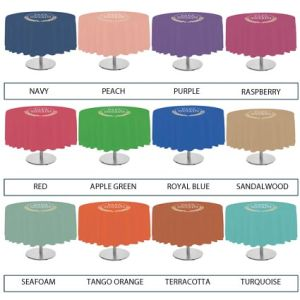 Promotional Table Cloths for Logos and Designs List of Colours