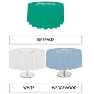 Custom Branded Table Cloth selection of colours