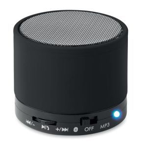 Round Bluetooth Speakers in Black