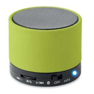 Round Bluetooth Speakers in Lime