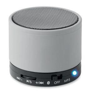 Round Bluetooth Speakers in Matte Silver