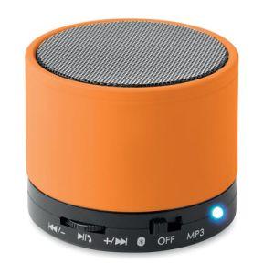 Round Bluetooth Speakers in Orange