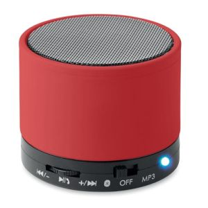 Round Bluetooth Speakers in Red