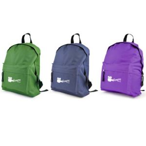Custom branded Backpacks printed with logo