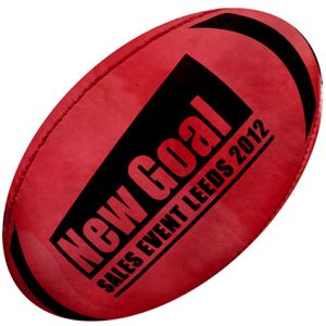 Rugby Ball in Red