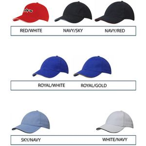 Branded baseball caps for marketing ideas colours