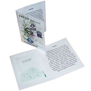 Your artwork will be printed in full colour on the four sides of the Seed Booklet