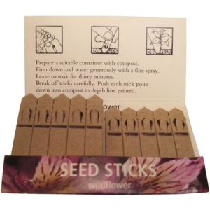 These promotional Seed Sticks are simple to activate - as these instructions prove!