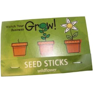 Each packet features 10 seed sticks, with your branding clearly printed on the backing