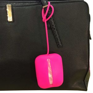 The design of these logo-printed silicon bag carriers means they're ideal for adding onto keys or bags