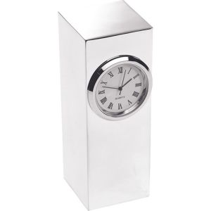 Silver Plated Column Clocks in Silver