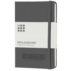 Pocket Moleskine Hardback Ruled Notebook in Grey