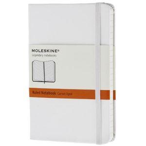 Pocket Moleskine Hardback Ruled Notebook in White