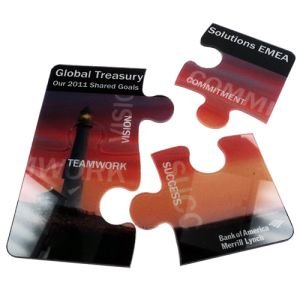 Promotional Small PlexiMag Magnetic Puzzles for Marketing Campaign Giveaways