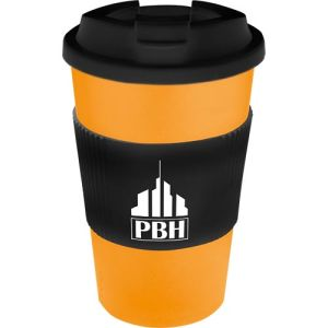 Promotional Spill Proof Americano Mugs with company logos