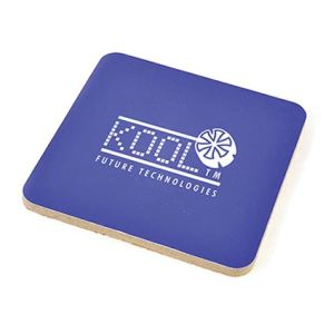 Promotional Square Cork Backed Coasters for Desktop Gifts