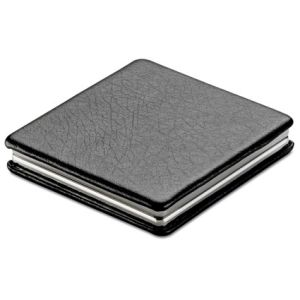 Square Double Compact Mirrors in Black