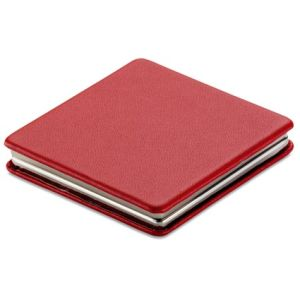 Square Double Compact Mirrors in Red