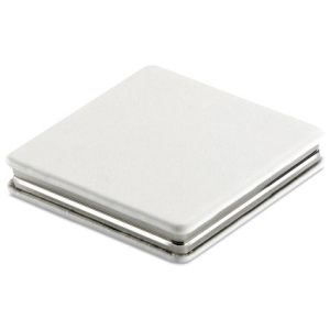 Square Double Compact Mirrors in White