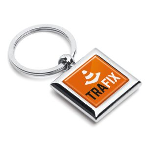 Square Metal Keyring