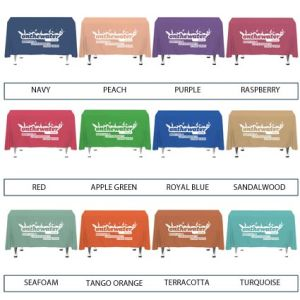 Promo Table Cloth for Campaign Advertising List of Colours