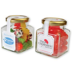 Branded Jar of Sweets for Business Gifts