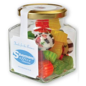 Promotional Square Retro Sweet Jars for Company Merchandise
