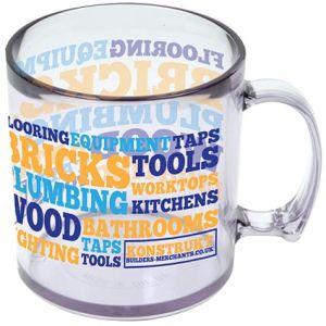 Standard Plastic Mugs in Clear
