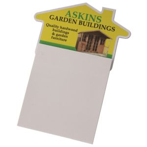 Sticky Note Magnetic Pad in White
