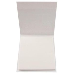 Sticky Note Pad with Cover in White