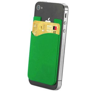 Sticky Phone Card Holders in Green