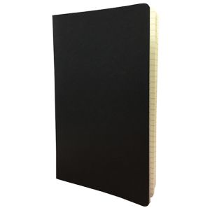 Stitched Ruled Medium Card Cover Notebooks in Black