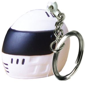 Stress Crash Helmet Keyrings in Off White