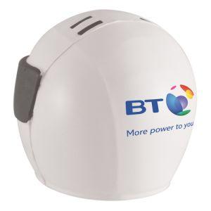 Custom Branded Crash Helmet Shaped Stress Balls for Office Advertising