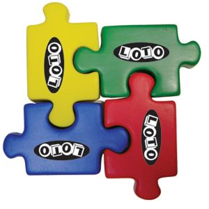 Colourful Stress Ball Puzzle Pieces for Campaign Merchandise