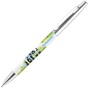 Supersaver Metal Photo Ballpens in Silver