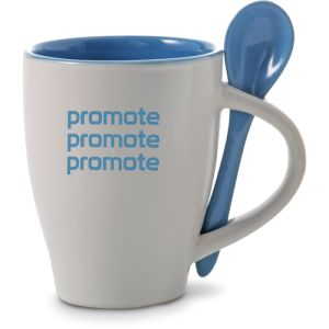 Printed Tea Spoon and Mug for Office Merchandise
