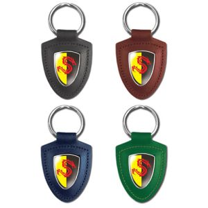 Templar Shield Leather Keyfobs