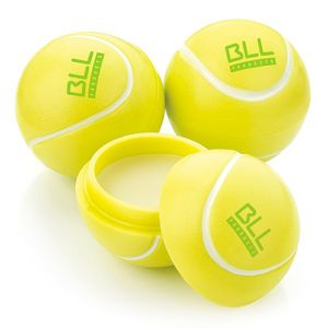 Tennis Ball Lip Balm in White/Yellow