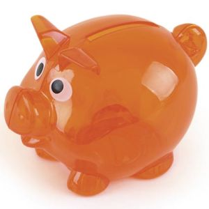 Promotional piggy bank for giveaways